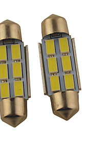 2pcs carking ™ festone 36 millimetri / 39 millimetri 1.2W 6 * 5630SMD 140 ml luce bianca 6000k ha condotto la lampada Roma (cc 12v)