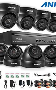 annke® 16ch dvr ecloud hdmi 1080p / VGA / BNC-uitgang 8 stuks 900tvl cmos 24LEDs dag / nacht ir-cut camera IP66