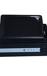 h.264 DVR / NVR-systeem 4/8 kanaal met 7 inch LCD-scherm