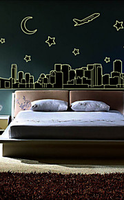 Fluore Scence City Luminous Paste Stickers Fluorescence Background Decorative Wall Stickers