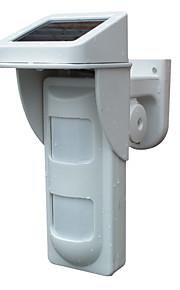 2 pir IP65 eau de détecteur preuve extérieure sans fil de l'énergie solaire