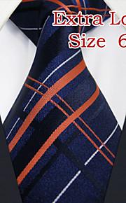 Men's Business Stripes Navy Blue Ties