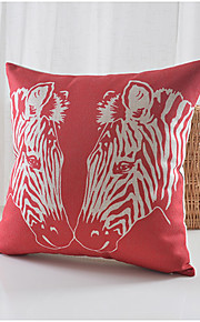 Horse Love Pattern Cotton/Linen Decorative Pillow Cover