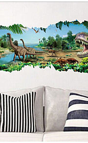 2015 novos zooyoo® 1458 parque jurássico dinossauros do filme adesivos de parede