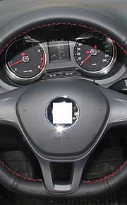 Xuji ™ sort ægte læder rat dækning for volkswagen vw golf 7 Mk7 nye polo Sagitar