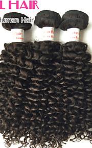 """3 шт много 12 """"-30"""" перуанские странный фигурные утки натуральный черный 1b # человеческих волос вьющиеся пучки запутывает свободно"""