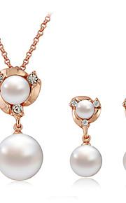 Conjunto de joyas Aleación/Perla Artificial De mujeres