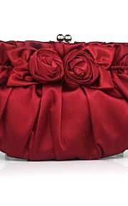 Handbag Matte Silk/Silk Evening Handbags/Clutches/Mini-Bags With Flower