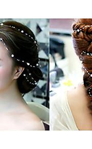 結婚式/パーティー 成人用 人造真珠 かぶと ヘッドチェーン 1個