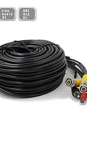 45m CCTV surveillance camera video en audio powe verlengkabel pre-made all-in-one BNC RCA-kabel