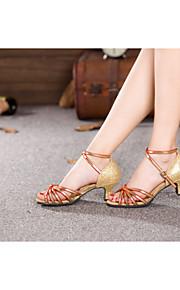 Женская обувь - Атлас/Мерцающая отделка/Пайетки/синтетический - Номера Настраиваемый ( Черный/Красный/Золотой/Другое ) - Латино/Самба