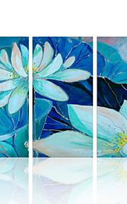 visuaalinen star®beautiful kukka venytetään kankaalle maalaus triptyykki seinälle valmis ripustaa