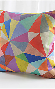 Colorful Triangle Cotton/Linen Decorative Pillow Cover