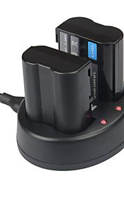 Kingma dual usb laturi nikon enel15 akun ja D750 D7100 D7000 D610 D600 D800E
