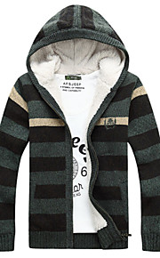 Herren Freizeit Strickjacke  -  Gestreift Normal Lang Baumwolle