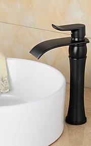 ברז כיור בחדר אמבטיה ברז כיור בסגנון וינטאג 'גימור פליז עכשווי גבוהה בחדר אמבטיה