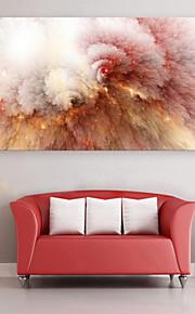 e-Home® sträckt ledde kanfastryck konst rosa moln ledde blinkande optisk fiber print