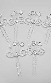 Women's/Flower Girl's Crystal/Alloy Headpiece - Wedding/Special Occasion Hair Pin 6 Pieces