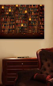 E-Home® gestreckt geführt Leinwanddruck Kunstbücherregal führte blinkenden Lichtwellenleiter Druck