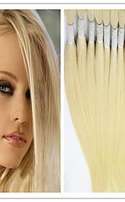 """3шт / много волос основная масса девственных волос прямо # 613 блондинка человеческих волос сыпучих 14-32 """"бразильского Виргинские сыпучих"""