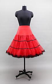 Déshabillés Robe de soirée longue Genou 3 Filet de tulle Polyester Lycra Blanc Noir Jaune Rouge