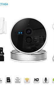 Dag Nat/Motion Detection/Dobbeltstrømspumpe/Fjernadgang/IR-klip/Wi-Fi Beskyttet Setup/Plug and play - Indendørs PTZ - IP-kamera