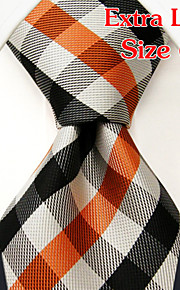 Men's Business Checked Orange Ties