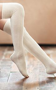 1Pairs Women's Retro Pachytene Knee Cotton Stockings