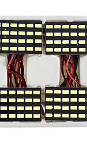 lorcoo ™ 4 stuks zwarte 24 LED-paneel 5050 SMD lichtkoepel lamp + t10 BA9S festoon adapter
