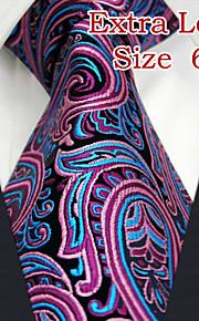 Men's Business Paisley Fuchsia Ties
