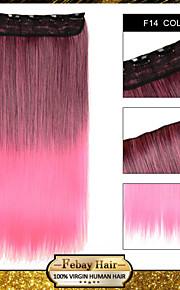 Ombre клип в прямой наращивания волос синтетические парики f14