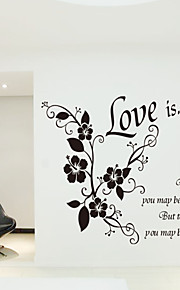 Wall Stickers Wall Decals Style New Love Is English Words & Quotes PVC Wall Stickers