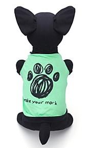 Verde - Boda/Cosplay - Algodón - Camiseta - Perros/Gatos -