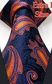 Men's Casual Paisley Orange Ties