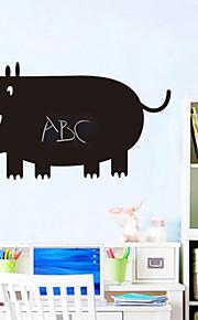 rinoceronte dos desenhos animados abstrato pvc amiga do ambiente adesivo de parede