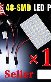 10x slinger t10 BA9S witte LED 48SMD panel interieur koepel kaart gloeilamp lamp 12v