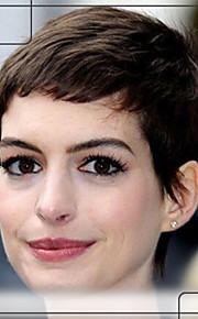 naturliga humana hår Capless peruker kort straightvirgin remy mono topp hår peruk