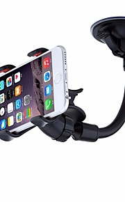 Easy To Use Universal 360 Rotation Windshield Phone Holder iPhone 6,Samsung S6 Edge/S6/S5,Double Clip Car Mount for GPS