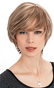 короткие прямые волосы человека без шапки высокое качество девственница Remy моно топ парики