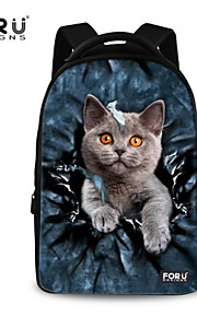 FOR U DESIGNS Unisex Cat Take Me Fly Polyester Sports Laptop Backpacks