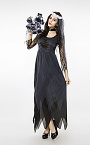 Cosplay Dresses Women's Spandex / Lycra Lace Halloween Costume 3 Pieces Black