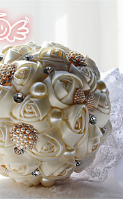 5 Colors Rhinestone Round Roses Bouquets Wedding Flowers