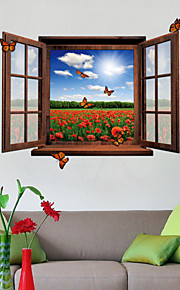 Adesivi 3d finestra scenario PVC decalcomanie adesivi murali della parete
