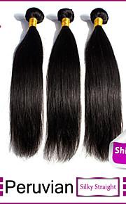 перуанский девственница волосы прямые перуанские прямые волосы 3шт 8 '' - 30 '' прямо девственные волосы человека