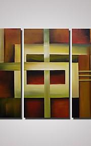 oliemaleri abstrakt kunst sæt af 3 håndmalede lærred maleri til boligindretning unframed