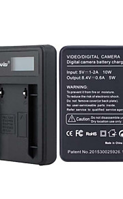 camera acculader met het scherm voor JVC VF808 zwart