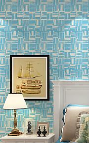 Géométrique Papier peint Contemporain Revêtement , Intissé Mosaic Flocking Wallpaper