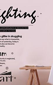 Mode Englisch Poesie Kämpfe und Träume Ebene Wandaufkleber Wanddekor, PVC herausnehmbare