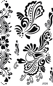 BlackLace Henna Indian Body Temporary Sexy Butterfly Tattoos Sticker For Women,Teens,Girls J026