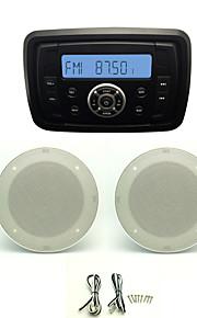 Waterproof Marine Radio Stereo ATV UTV Audio Receiver+4 Inch White Waterproof Speakers